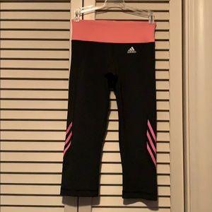 2 pairs of Adidas climalite 3/4 running pants